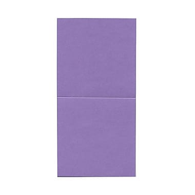 JAM Paper® Foldover Cards, 5.75 x 5.75 square, Stardream Metallic Amethyst Purple, 50/Pack (6935179)