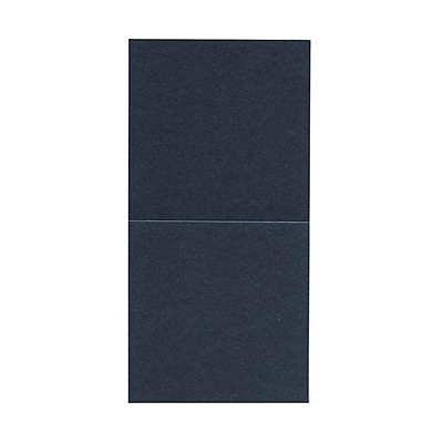 JAM Paper® Foldover Cards, 5.75 x 5.75 square, Stardream Metallic Anthracite Black, 50/pack (6935180)