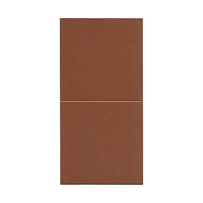 JAM Paper® Foldover Cards, 5.75 x 5.75 square, Stardream Metallic Copper, 50/pack (6935184)