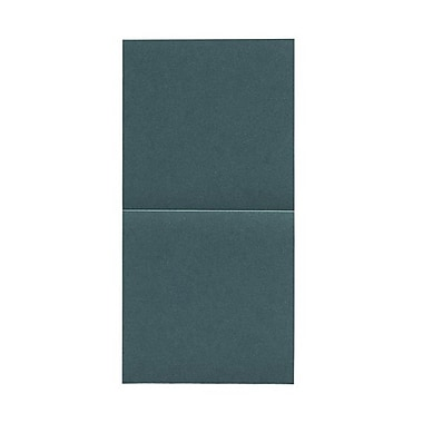 JAM Paper® Foldover Cards, 5.75 x 5.75 square, Stardream Metallic Emerald, 50/pack (6935185)
