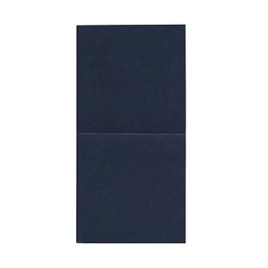 JAM Paper® Foldover Cards, 5.75 x 5.75 square, Stardream Metallic Lapiz Lazuli, 50/pack (6935187)
