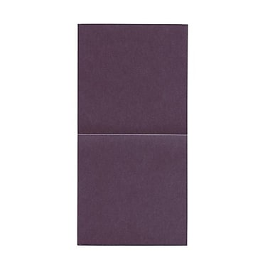 JAM Paper® Foldover Cards, 5.75 x 5.75 square, Stardream Metallic Ruby Purple, 50/Pack (6935190)