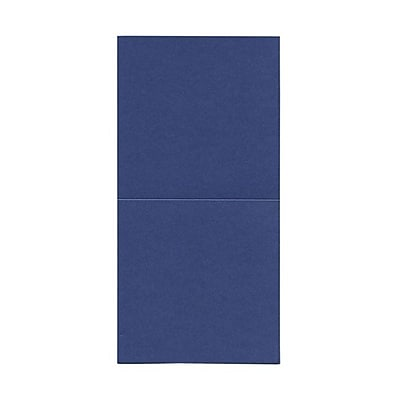 JAM Paper® Foldover Cards, 5.75 x 5.75 square, Stardream Metallic Sapphire, 50/pack (6935191)