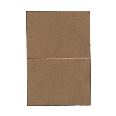 JAM Paper® Blank Foldover Cards, A6 size, 4.63 x 6.25, Brown Kraft Paper Bag Recycled, 50/Pack (530910831g)