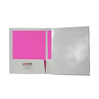 JAM PaperMD – Chemises de présentation lustrées à 2 pochettes, 9 1/4 x 11 1/2 po, blanc