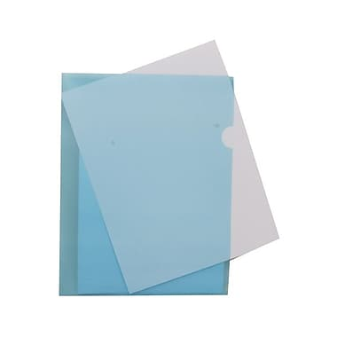 JAM Paper® Plastic Sleeves, 9 x 11.5, Blue, 120/Pack (2226316987B)