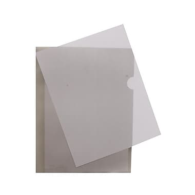 JAM Paper® Plastic Sleeves, 9 x 11.5, Smoke Grey, 600/Pack (2226316990C)