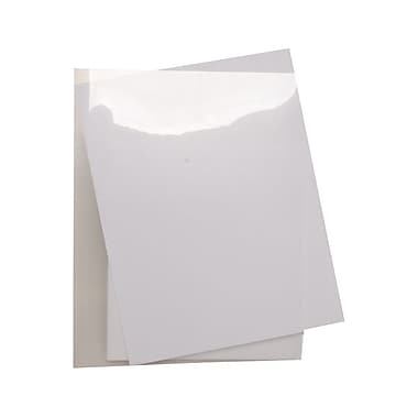 JAM Paper® Plastic Sleeves, 9 x 11.5, Clear, 600/Pack (2226316988C)