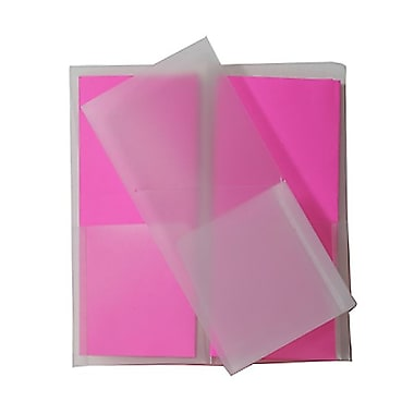 JAM Paper® Plastic Heavy Duty Mini Two Pocket Folders, Small, 4.25 x 9 1/8, Clear, 12/Pack (96450dg)