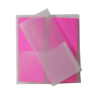JAM Paper® Plastic Heavy Duty Mini Two Pocket Folders, Small, 4 1/4 x 9 1/8, Clear, 6/pack (96450D)