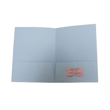 JAM PaperMD – Chemises de présentation en papier à deux pochettes, 9 x 12 po, bleu bébé
