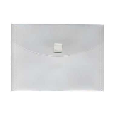 JAM Paper® Plastic Envelopes with VELCRO® Brand Closure, Index Booklet, 5.5 x 7.5, Clear Poly, 24/Pack (920V0clg)