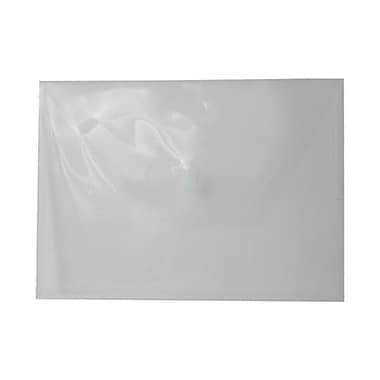 JAM Paper® Plastic Envelopes with VELCRO® Brand Closure, Letter Booklet, 9.75 x 13, Clear Poly, 12/Pack (218V0CL)