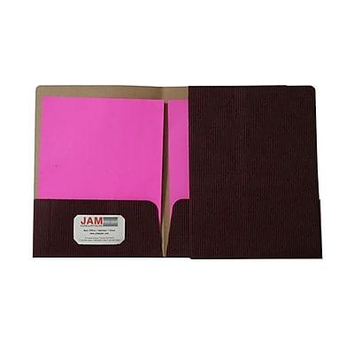 JAM Paper® Corrugated Fluted Folders, Burgundy, 6/Pack (87497D)