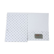 JAM Paper® Handmade Folders, White with Black Dots, 100/pack (5935823B100)