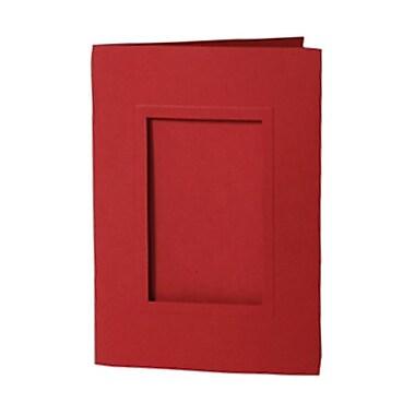 Jam PaperMD – Cartes pour photo 5 x 7 po avec ouverture de 2 1/2 x 4 po, rouge, 200/pqt