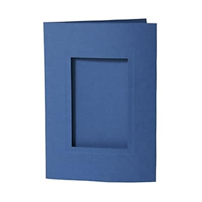 JAM Paper® Foldover Photo Cards, A7 size, 5 x 7, 2.5 x 4 Opening, Blue, 12/pack (1791033)