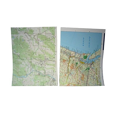 JAM Paper® Map Paper, 8.5 x 11, 24lb Assorted Map Designs, 25/pack (163969)