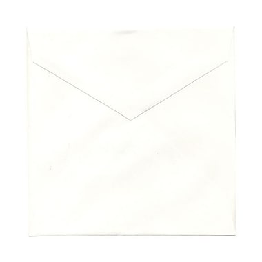 JAM Paper® 7.5 x 7.5 Square Envelopes, Natural White with V-Flap, 1000/Pack (27912565B)