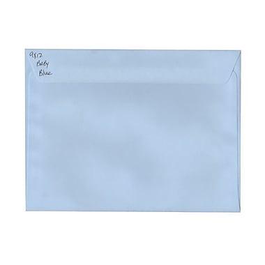 JAM PaperMD –Enveloppes imprimé carte, 9 x 12 po, bleu pâle, 1000/paquet