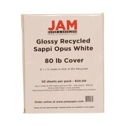 "Jam Paper® Glossy Cardstock, 8-1/2"" x 11"", White"