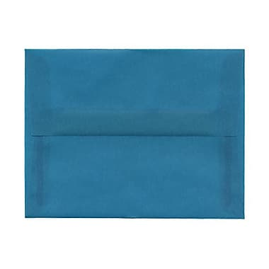 JAM Paper® A2 Invitation Envelopes, 4.38 x 5.75, Aqua Blue Translucent Vellum, 50/Pack (1591674ag)