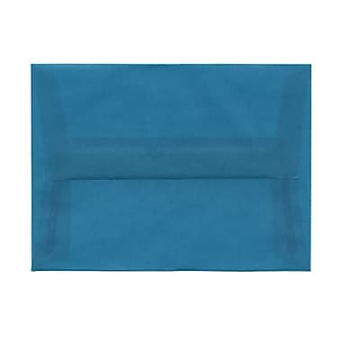 JAM Paper® A6 Invitation Envelopes, 4.75 x 6.5, Aqua Blue Translucent Vellum, 50/Pack (PACV664g)