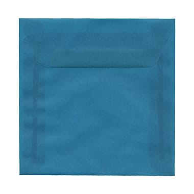 JAM Paper® 6 x 6 Square Envelopes, Aqua Blue Translucent Vellum, 25/Pack (PACV574)