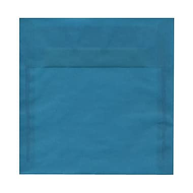 JAM Paper® 8.5 x 8.5 Square Envelopes, Aqua Blue Translucent Vellum, 1000/Pack (PACV594B)