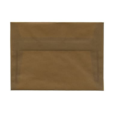 JAM Paper® A7 Invitation Envelopes, 5.25 x 7.25, Earth Brown Translucent Vellum, 100/Pack (01591779ag)