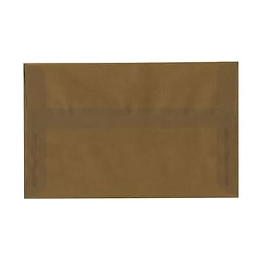 JAM Paper® A10 Invitation Envelopes, 6 x 9.5, Earth Brown Translucent Vellum, 25/pack (PACV851)