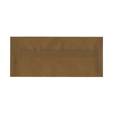 JAM Paper® #10 Business Envelopes, 4 1/8 x 9.5, Earth Brown Translucent Vellum, 100/Pack (PACV351ag)