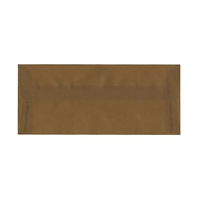 JAM Paper® #10 Business Envelopes, 4 1/8 x 9 1/2, Earth Brown Translucent Vellum, 25/pack (PACV351A)