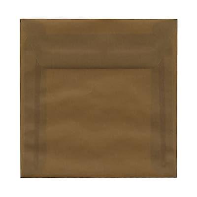 JAM Paper® 6 x 6 Square Envelopes, Earth Brown Translucent Vellum, 25/pack (1591937)