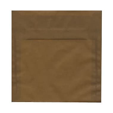 JAM Paper® 8 x 8 Square Envelopes, Earth Brown Translucent Vellum, 25/pack (E856576)