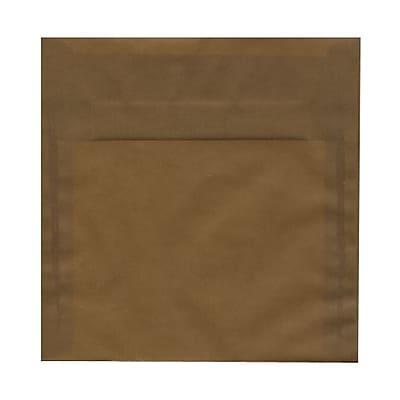 JAM Paper® 8.5 x 8.5 Square Envelopes, Earth Brown Translucent Vellum, 25/pack (1592169)