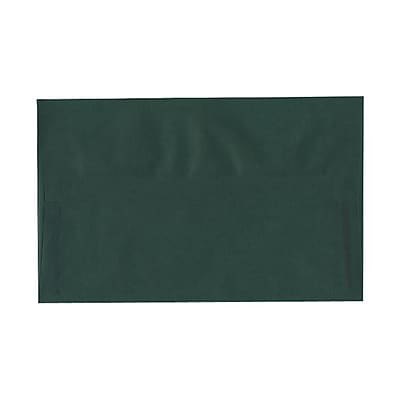 JAM Paper® A10 Invitation Envelopes, 6 x 9.5, Translucent Vellum Racing Green, 25/pack (PACV863)