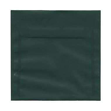 JAM Paper® 6.5 x 6.5 Square Envelopes, Racing Green Translucent Vellum, 100/pack (1592125B)