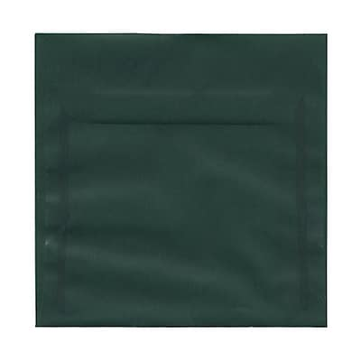 JAM Paper® 6 x 6 Square Envelopes, Racing Green Translucent Vellum, 25/pack (1591938)