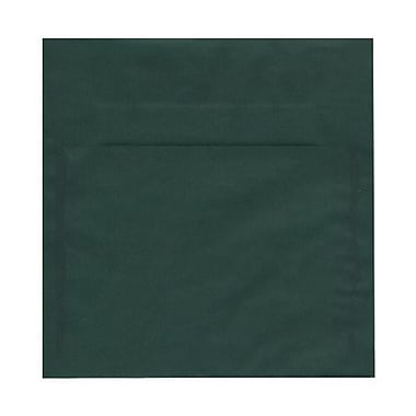 JAM Paper® 8.5 x 8.5 Square Envelopes, Racing Green Translucent Vellum, 25/Pack (PACV593)