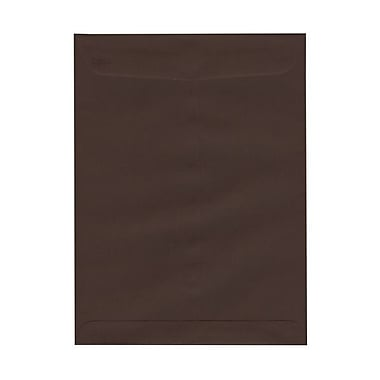 JAM Paper® 9 x 12 Open End Catalog Envelopes with Clasp Closure, Chocolate Brown Recycled, 1000/Pack (212816044B)