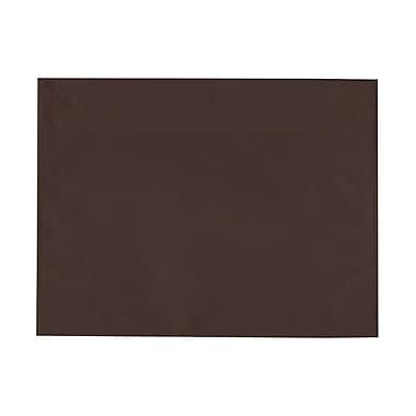 JAM Paper® 9 x 12 Booklet Envelopes, Chocolate Brown Recycled, 50/Pack (572315992g)