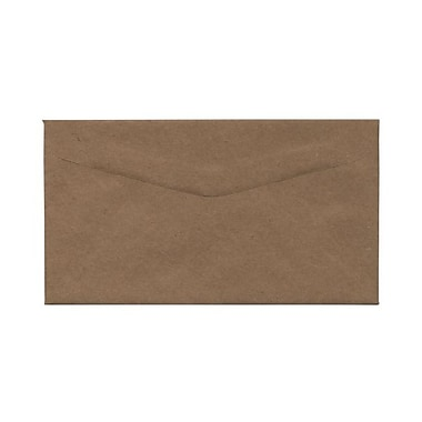 JAM Paper® 4.25 x 7.75 Booklet Envelopes, Brown Kraft Paper Bag Recycled, 100/Pack (563112538g)