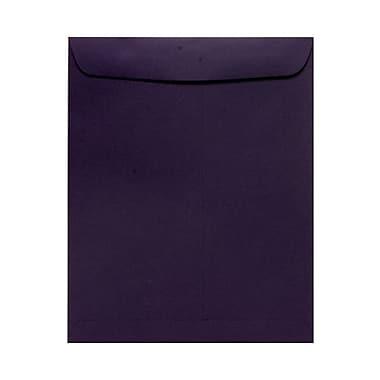 JAM PaperMD – Enveloppes ouvertes au bout avec fermeture gommée, 10 x 13 po, violet foncé, 1000/paquet