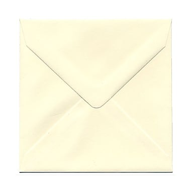 JAM Paper® 5 x 5 Square Envelopes, Ivory with V-Flap, 100/Pack (02792256B)