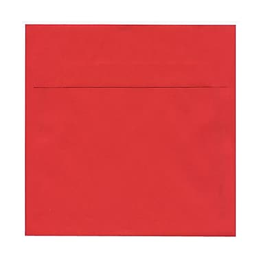 JAM Paper® 7.5 x 7.5 Square Envelopes, Brite Hue Red Recycled, 100/Pack (02792291B)
