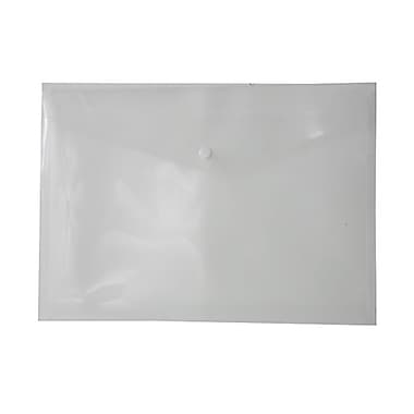 JAM Paper® Plastic Envelopes with Snap Closure, Letter Booklet, 9.75 x 13, Clear Poly, 12/Pack (218S0CLG)