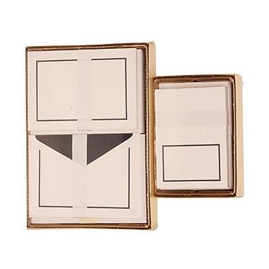 JAM Paper® Colorful Border Stationery Set Combo, 50 Large Card Envelope, 100 Small Card Envelope, Navy Blue,100/set (2237719066)
