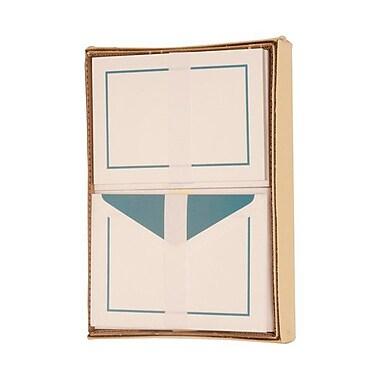 JAM Paper® Colourful Border Stationery Set, 52 Large Cards and 50 Envelopes, Blue (2237719070)