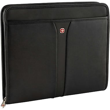 Wenger North America SwissGear 1-Inch Slant D 3-Ring Folio Binder, Black (WA-5542-02F00)